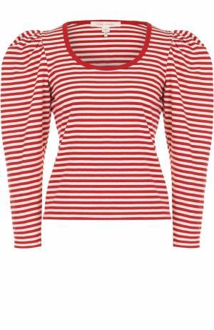 Пуловер в полоску с рукавом-фонарик Marc Jacobs. Цвет: красный
