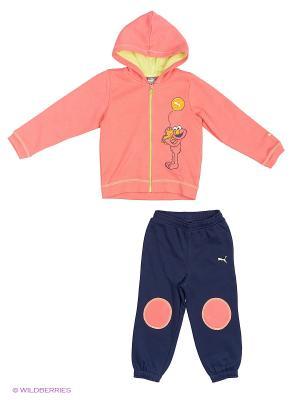 Костюм спортивный  Sesame Hooded Jogger Puma. Цвет: розовый, синий