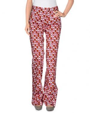 Повседневные брюки MAESTA. Цвет: светло-розовый