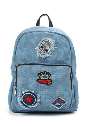 Рюкзак Fabretti. Цвет: голубой