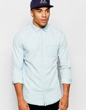 New Look Джинсовая рубашка с длинными рукавами. Цвет: синий