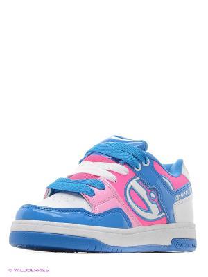 Роликовые кроссовки Heelys. Цвет: голубой, белый, розовый