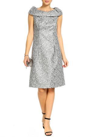 Платье BGN. Цвет: серебряный