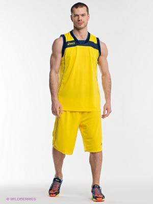 Форма баскетбольная SET LAKE ASICS. Цвет: желтый