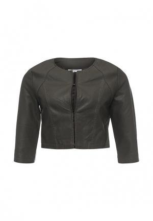Куртка кожаная Paccio. Цвет: хаки