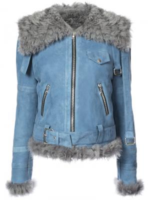 Moto coat Sandy Liang. Цвет: синий