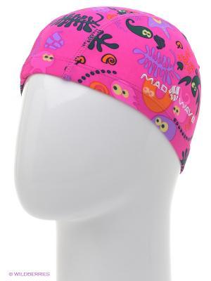 Шапочка для плавания Mad Wave. Цвет: розовый
