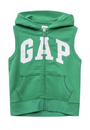 Жилет Gap. Цвет: зеленый