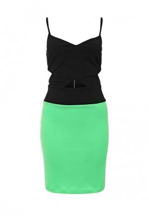 Платье Love Republic. Цвет: зеленый