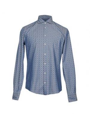 Pубашка MAESTRAMI. Цвет: синий