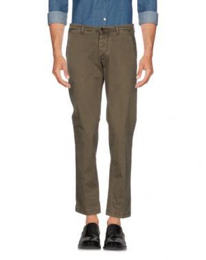 Повседневные брюки BRIGLIA 1949. Цвет: зеленый-милитари