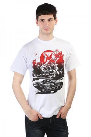 Футболка  Car White Anteater. Цвет: белый,мультиколор