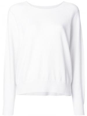 Пуловер плотной вязки Semicouture. Цвет: белый