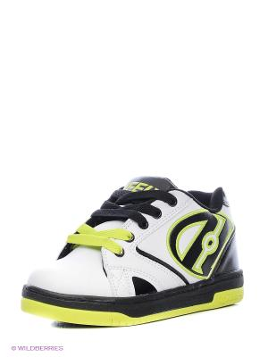 Роликовые кроссовки Heelys. Цвет: белый, черный, салатовый