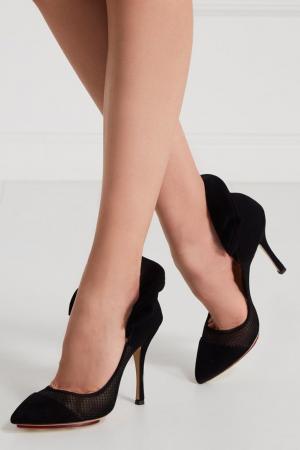 Замшевые туфли Joan Charlotte Olympia. Цвет: черный