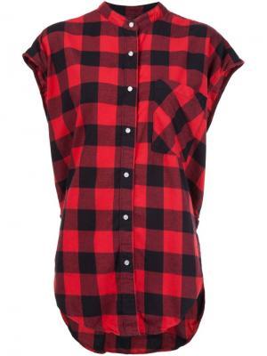Рубашка без рукавов в клетку NSF. Цвет: красный