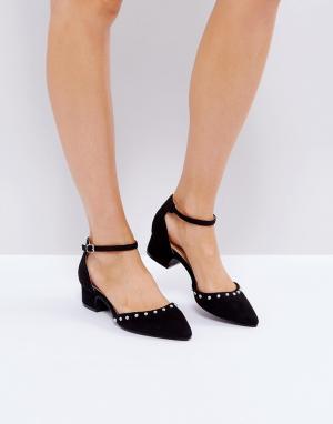 Raid Туфли на плоской подошве с ремешком вокруг щиколотки Tia. Цвет: черный