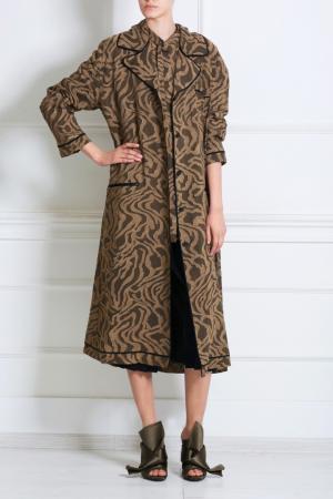 Прямая блузка Sanasy Damir Doma. Цвет: бежевый