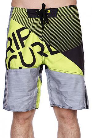 Пляжные мужские шорты  Nexus Black/Green Rip Curl. Цвет: черный,серый,желтый