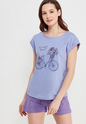 Пижама Sela. Цвет: фиолетовый