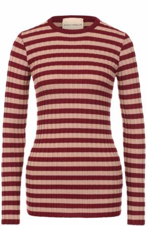 Облегающий пуловер в полоску Erika Cavallini. Цвет: разноцветный