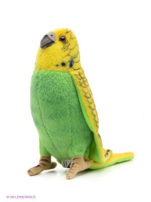 Попугай волнистый зеленый Hansa. Цвет: зеленый, желтый