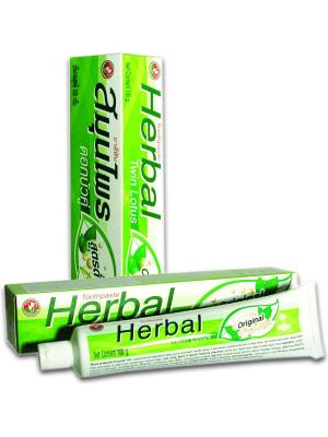 Зубная паста Herbal  Twin Lotus Original C травами оригинальная100 гр. Цвет: салатовый