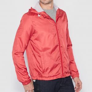 Куртка-ветровка на молнии с капюшоном Мини-цена. Цвет: коралловый