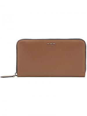 Zip around wallet Fendi. Цвет: коричневый