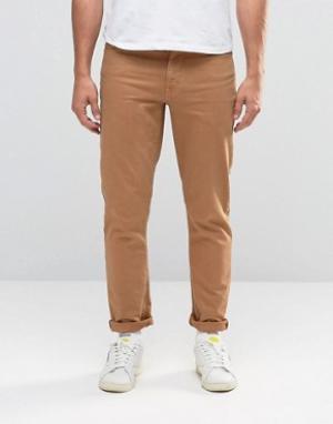ASOS Светло-коричневые джинсы скинни. Цвет: рыжий