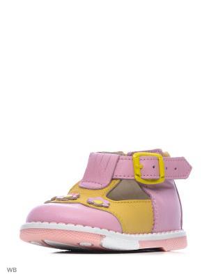 Туфли ТАШИ ОРТО. Цвет: розовый, желтый