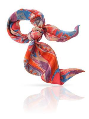 Платок MICHEL KATANA`. Цвет: лазурный, бежевый, коралловый, оранжевый, светло-серый, фиолетовый