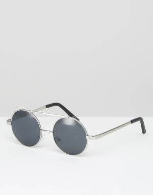 Jeepers Peepers Круглые солнцезащитные очки. Цвет: серебряный