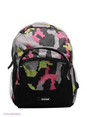 Рюкзак KEDDO. Цвет: серый, розовый