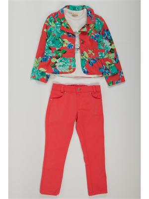 Костюм одежды для девочки La Pastel. Цвет: красный, белый, голубой
