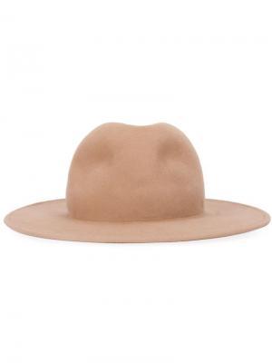 Шляпа с широкими полями Liberty Or Death. Цвет: телесный