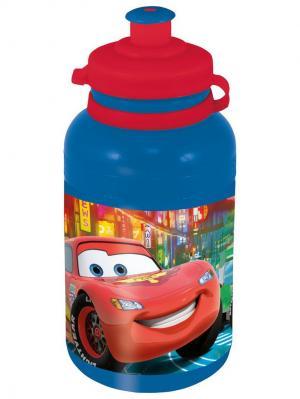 Бутылка пластиковая (спортивная, 400 мл). Тачки Stor. Цвет: красный, синий