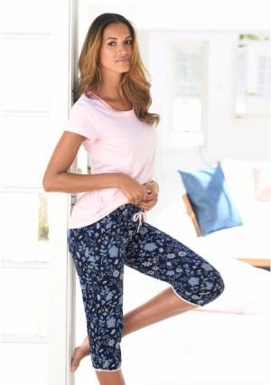 Пижама капри s.Oliver. Цвет: розовый/в цветочек