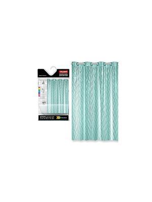 Штора для ванной комнаты с кристаллическим эффектом, WATER LINE VALIANT. Цвет: морская волна