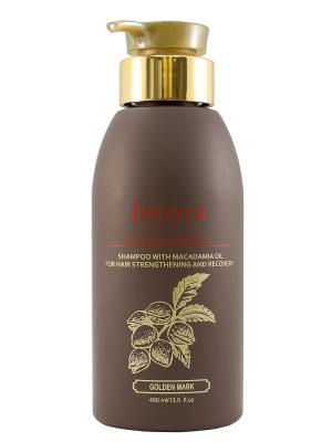 Шампунь для укрепления и оздоровления волос с маслом макадамии, 400 мл. Deora Cosmetics. Цвет: бежевый