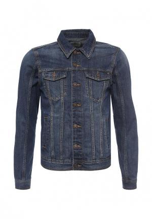 Куртка джинсовая Alcott. Цвет: синий