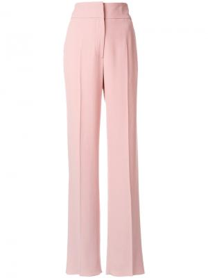 Строгие брюки с завышенной талией Rochas. Цвет: розовый и фиолетовый