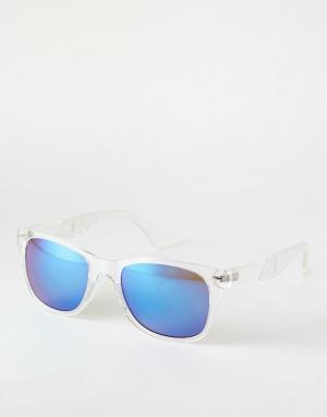 Trip Солнцезащитные очки в стиле ретро. Цвет: прозрачный