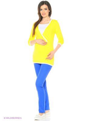Блузка Гармония Mum`s Era. Цвет: желтый, белый