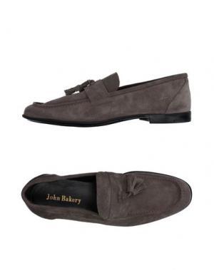 Мокасины JOHN BAKERY. Цвет: серый