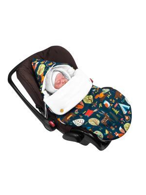 Конверт для новорождённого в автокресло поход! (демисезонный) MIKKIMAMA. Цвет: синий,зеленый,оранжевый