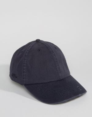 Dead Vintage Потертая кепка. Цвет: темно-синий