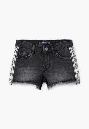 Шорты джинсовые Mango Kids. Цвет: серый