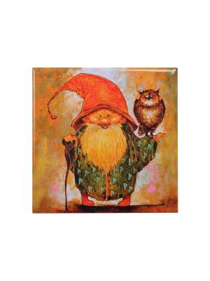 Магнит Волшебник, дарящий мудрость Artangels. Цвет: красный, зеленый, оранжевый