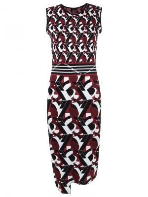 Mid-length knit dress Gig. Цвет: красный